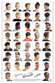 Barbershop Hairstyle Chart Revisioning Aspirational Hair Sociological Images