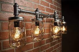 industrial bar lighting. Industrial Lighting - Mason Jar Light Steampunk Bar  Industrial Bar Lighting