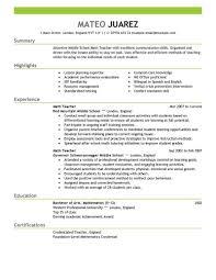 Teacher Resume Builder Free Resume Templates Linkvnet