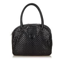 fendi woven leather handbag