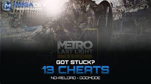 Metro 2033 Last Light Redux Trainer Metro Last Light Redux No Reload Godmode Trainer By Megadev