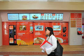 Vending Machine Franchise Singapore Delectable Vending Machine 'cafe' Opens In Heartland Singapore News Top