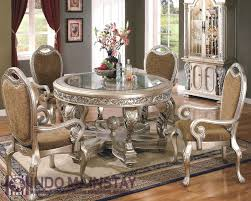 round back dining chairs dining room elegant victorian dining room decor ideas showing