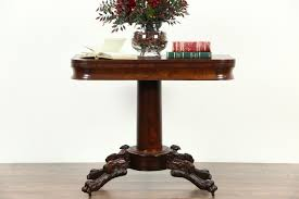 SOLD Empire 1825 Antique Console Table Opens to Game Table Paw