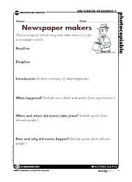 Newspaper Articles Template Examples Newspaper Writing Template Article Format Cbse Free