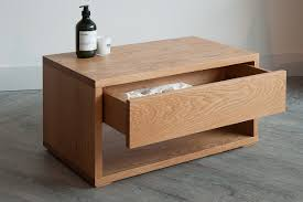 great low bedside table black lotus oak drawer unit natural bed company idea uk pair nz