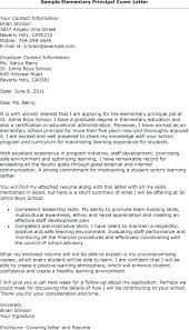 Principal Cover Letter Principal Cover Letter Examples Cover Letter
