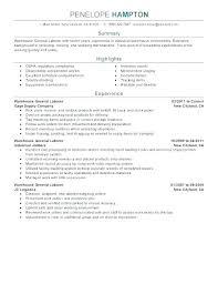 General Laborer Resume Interesting Example Of Resume Objective For General Laborer With Laborer Resume