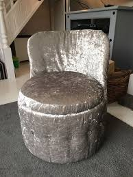 Silver Bedroom Chair Luxury Silver Grey Velvet Bedroom Chair With Diamonte Detail In