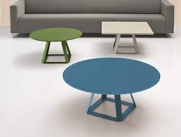 balma h2 round coffee table with metal base