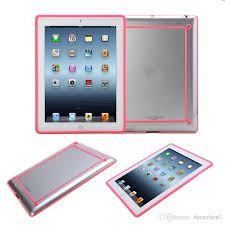 per case for apple ipad mini 1 2 ipad ipad 2 3 4 5 air tablet tpu silicone rubber cover newest fashion frame tablet hybrid pcc070 best tablet cases