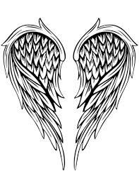 Disegno Di Tatuaggio Di Ali Dangelo Da Colorare Disegni Da