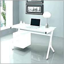 office table with glass top. Glass Office Table Top Desk Computer White . With S