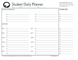 Free Homework Planner Free Printable Daily Homework Planner Download Them And Try To Solve