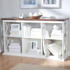 Bookcase Table Belham Living Hampton Console Table 2 Shelf Bookcase White Oak