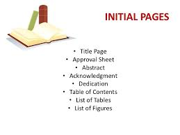 PARTS OF A THESIS     INITIAL PAGES     SlideShare