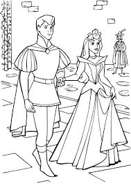 Coloriage Princesse Aurore Et Le Prince Imprimer Sur Coloriages