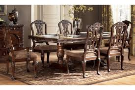 ornate dining room table and chairs. north shore double pedestal extendable table, 4 side chairs \u0026 2 arm ornate dining room table and a