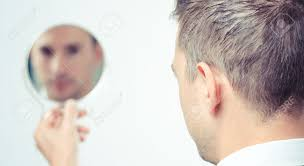 ego business man looking in the mirror and reflecting stock photo 43277081 o49 mirror