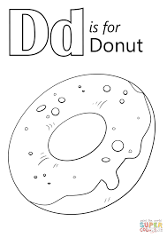 Small Picture Letter D is for Donut coloring page Free Printable Coloring Pages