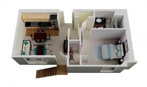 ... Small 1 Bedroom House Plans Terrific 5 ApartmentHouse ...