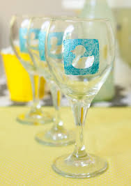 how to make duck baby shower diy personalized wine glasses