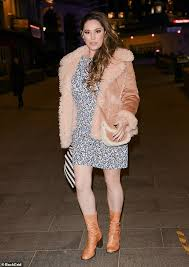 Struggling cambs parents to receive nearly £100 of. Kelly Brook Puts On A Leggy Display In A A Floral Dress Paired With A Shearling Coat Broread Com