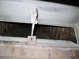 chimney flue damper hole