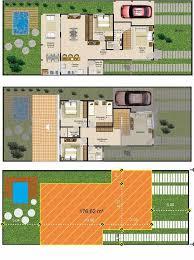 Com os ambientes sociais integrados, promove a conexão dos membros da residência. A Planta Da Casa Com Piscina Contou Com Garagem E Quatro Quartos Plantas De Casas Plantas De Sobrados Plantas De Casa Com Piscina