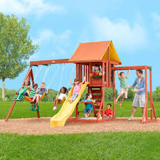 Big Backyard Cedarbrook Wood Gym Set