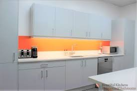 office kitchens. Plenty Of Space Was Necessary To Accommodate All The Tenants\u0027 Requirements. Quartz Worktops Provided A Surface That Is Easy Care For And Suitably Office Kitchens E