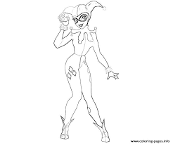 harley quinn arkham city coloring pages