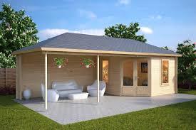 garden room sophia with veranda 10m 44mm 35 x 8 m big garden office ian