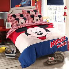 mickey mouse duvet cover set twin single double size bedding set for children bedroom decor