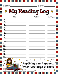 reading log 3 in color