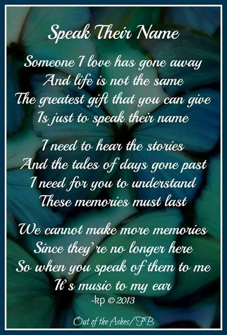poems about life and death of a loved one
