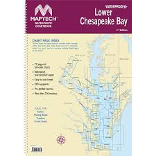 Maptech Waterproof Chartbook Lower Chesapeake Bay