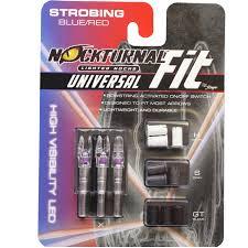 Nockturnal Lighted Nocks Fit Universal Size Strobing Strobing Red Blue Lighted Nock 3 Pack Nt 310