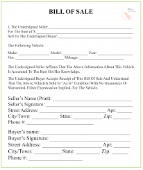 Bill Of Sale Furniture New Mexico Bill Of Sale Form For Dmv Car Boat Pdf Word