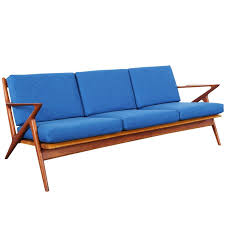 danish modern teak z sofa by poul jensen at stdibs