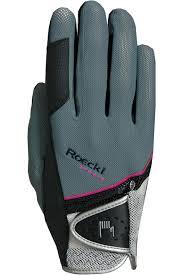 Roeckl Madrid Riding Gloves Grey Pink