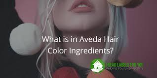 what is in aveda hair color ings