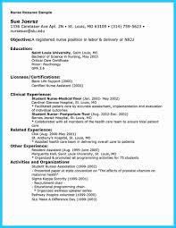 Nurse Resume Objectives Nursing Peppapp New Grad Template Sample