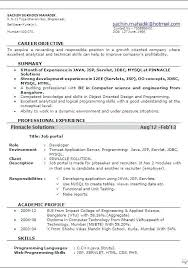 Top Result 60 Lovely Sample Resume For Software Engineer With One