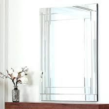 wall mirrors frameless large wall mirror top mirrors for your home chic beveled edge