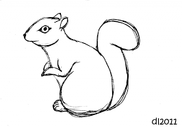 Small Picture How To Draw A Cartoon Squirrel How To Draw A Clipart Squirrel