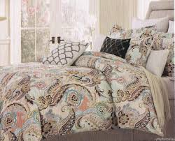 33 shining design cynthia rowley king bedding comforter set 1 paisley photo of 4 aqua lime green blue brown