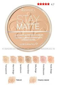 bareminerals matte foundation swatches. rimmel stay matte pressed powder foundation- i highly recommend using this in translucent as a bareminerals foundation swatches