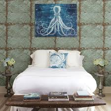 Teal Bedroom Wallpaper Brewster Teal Tin Ceiling Distressed Tiles Wallpaper Sample 2701