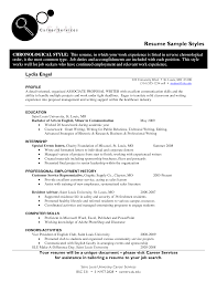 Styles Of Resumes 24 Resume Templates Resume Samples 7